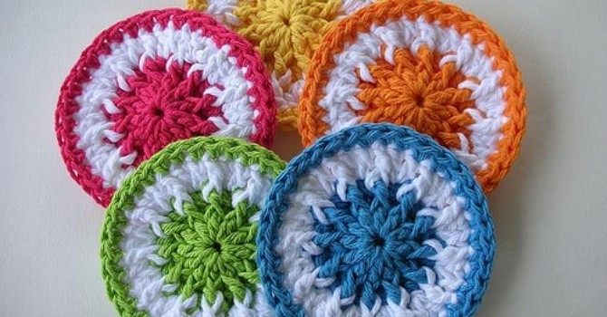 Free Pattern These Quick And Easy Little Scrubbie Dots Can Be Used