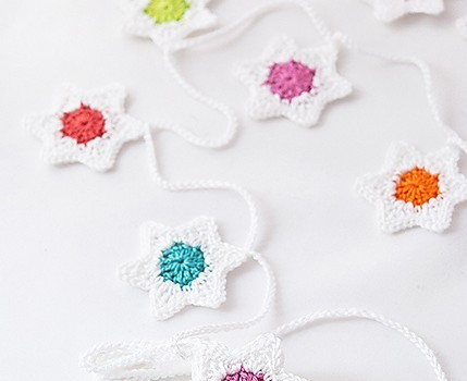 Free Crochet Pattern For Star Garland : [Free Pattern] Easy, Fresh And Quick To Make Crochet Six ...