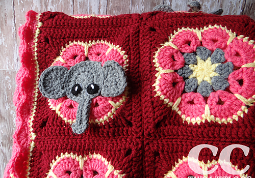 Free Pattern]Super-Cute And Super-Easy Elephant Square And