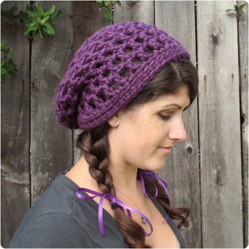 Waffle Cone Slouchy Hat by Julie King