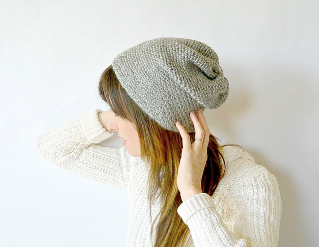 Woven Look Fave Slouch Beanie by Jessica Reeves Potasz