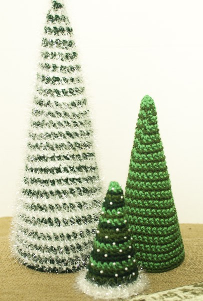 these Insanely Fast and Easy Christmas Trees should definitely be at the top of your Christmas crochet patterns list