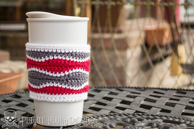 Brain Waves Coffee Cozy by Liz McQueen