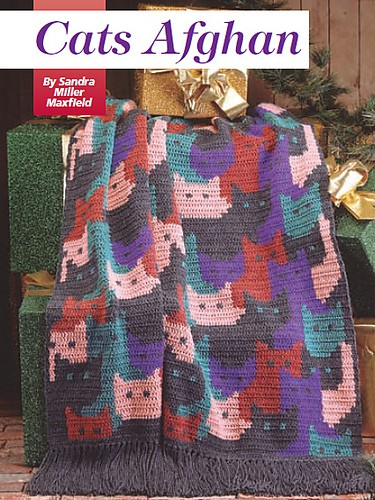 Cats Afghan by Sandra Miller Maxfield