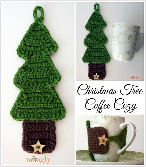Christmas Tree Coffee Cozy by Tamara Kelly