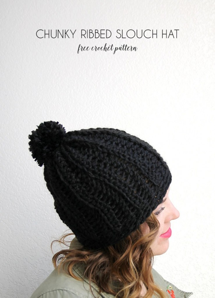 Chunky Ribbed Slouch Hat by Alexis Middleton