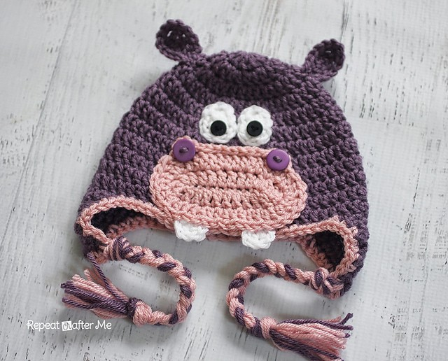 Crochet Hippo Hat by Sarah Zimmerman
