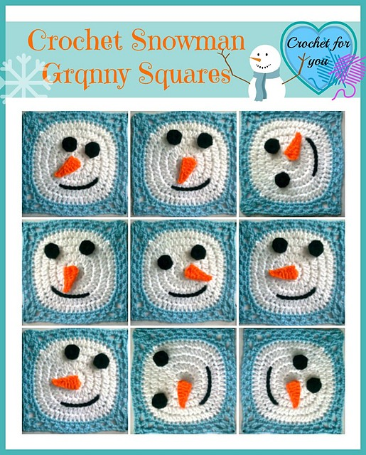 [Free Pattern] This Snowman Granny Square Is By Far The Cutest Idea For A Holiday Blanket