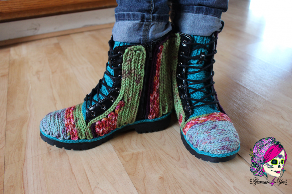 Faux Crochet Outdoor Boots