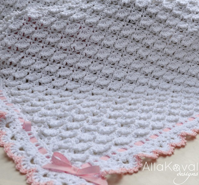Fluffy Clouds Baby Blanket Crochet 11 by Alla Koval