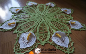 Learn how to crochet lace tablecloths