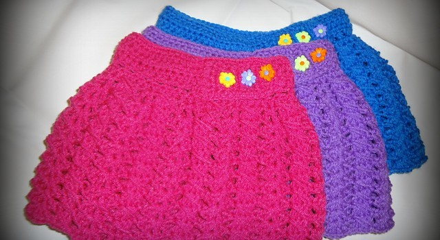 Knitting Skirt Free Pattern : Free pattern let your little ones shine this season in