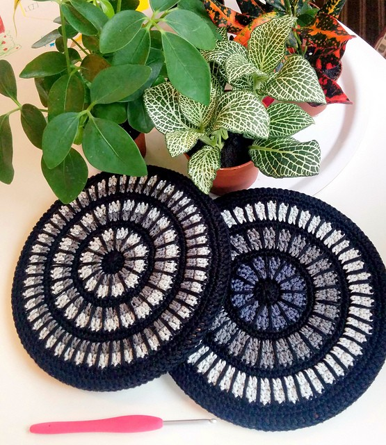 Mandala Hot Pad Trivet Cover by Anna Erlandsson