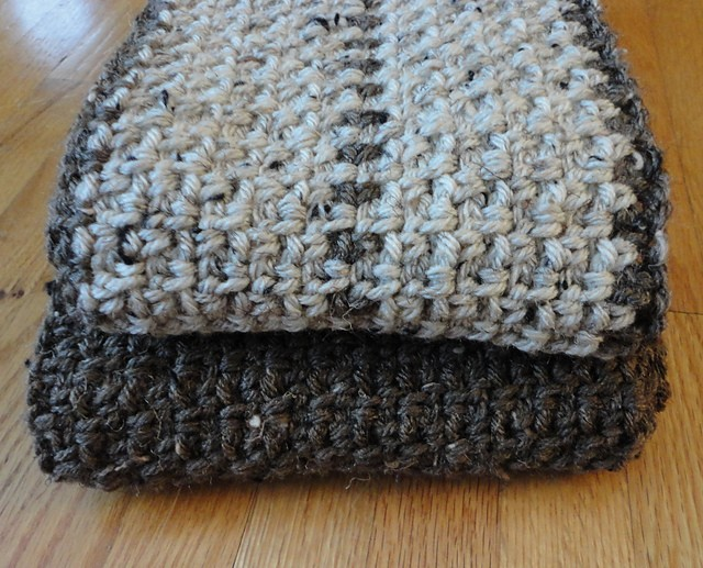 Free Pattern] Super Fast Men\'s Scarf - Knit And Crochet Daily