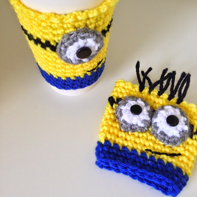 Minion Coffee Cozy by Sarah K. Adiutori
