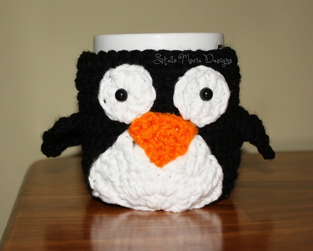 Mr. Penguin Mug Cozy by Stella Marie Designs