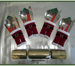 Santa Trousers Cutlery Holder by Phoeny