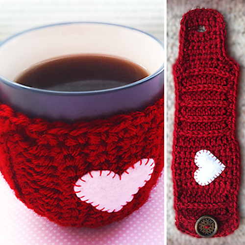 Valentine's Day Mug Cozy by Little Monkeys Crochet