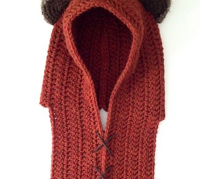 Free Pattern Quick And Awesome Ewok Inspired Crochet Scoodie Knit