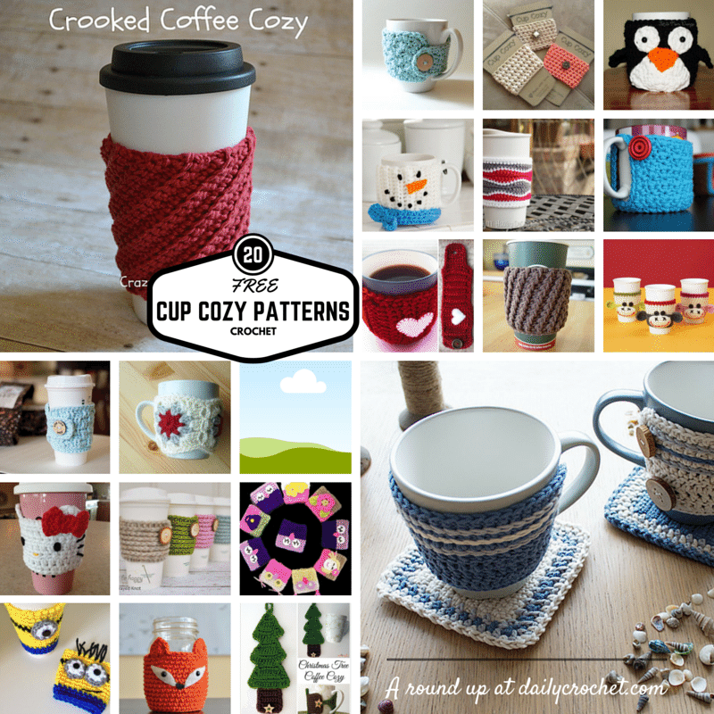 Free Quick And Easy Crochet Gift Patterns : 20 Free Crochet Cup Cozy Patterns Perfect For A Quick And ...
