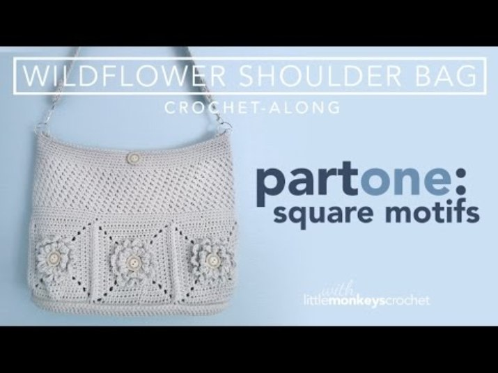 [Video Tutorial] She Started With A Granny Square, And Ended With The Loveliest Shoulder Bag
