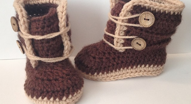 Free Crochet Pattern Baby Snow Boots : [Video Tutorial] Easy And Adorable Baby Winter Boots ...