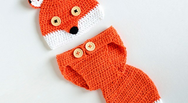 Free Pattern Cute Fox Baby Hat And Diaper Cover Your Baby Needs