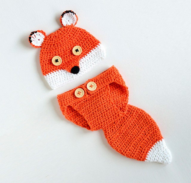 [Free Pattern] Cute Fox Baby Hat and Diaper Cover Your Baby Needs This Season