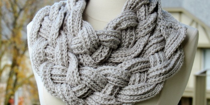 Knitting Pattern Braided Scarf : This Amazing Double Layered Braided Crochet Scarf Will Make You Feel Like A G...