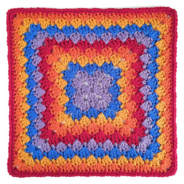 [Free Pattern] Beautiful And So Eye Catching Harlequin Shells Crochet Square