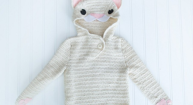 [Free Crochet And Knitting Patterns] Adorable Cat Hoodie ...