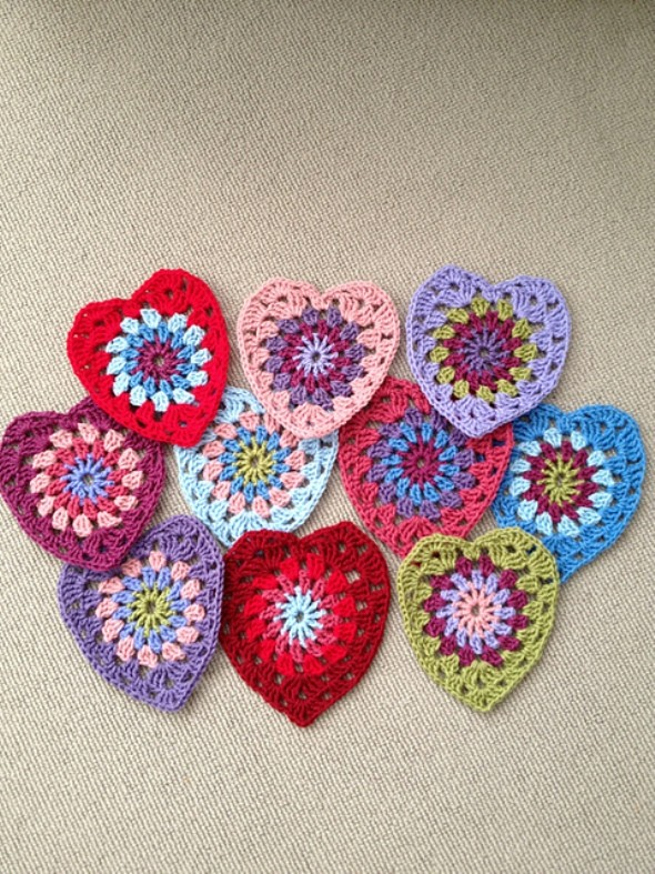 Sunburst Granny Hearts by Jacquie - Bunny Mummy