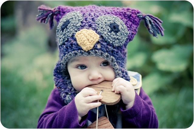 Woolly Owl Hat by Kat Goldin