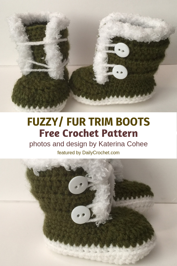 Easy And Adorable Crochet Baby Booties With Fur Free Crochet Pattern