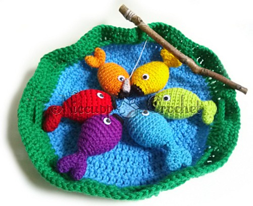 Free Crochet Patterns Games : [Free Pattern] Super Fun And Delightful Fishing Game Your ...