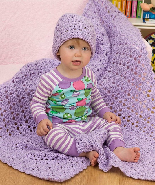 [Free Pattern] Fun, Easy And Quick Baby Blanket And Hat