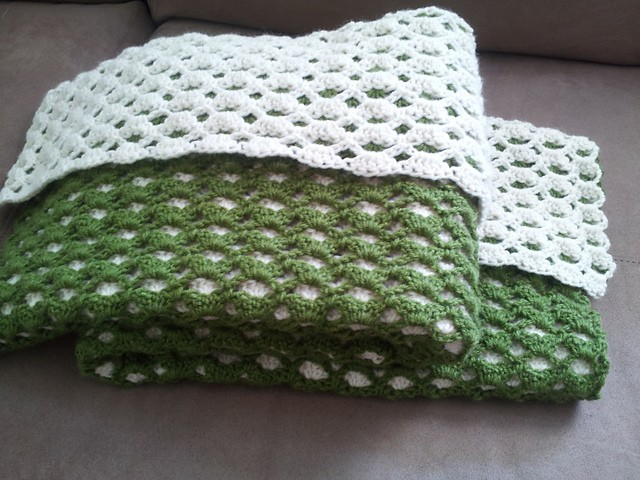 2 Sided Baby Afghan by Janet David
