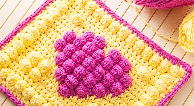 Free Pattern] This Adorable Bobble Heart Potholder Is Sure To Make ...