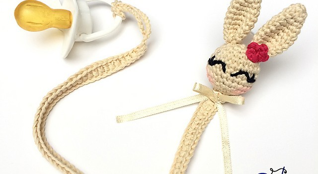 Free Pattern This Lovely Bunny Pacifier Will Keep Your Baby Happy