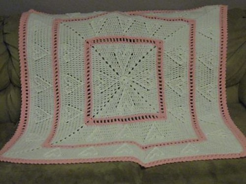 Cable Hearts Baby Afghan by Chris Simon