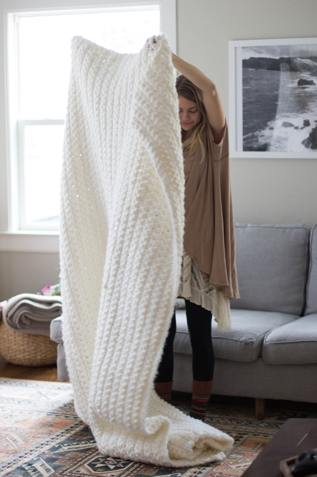 Free Pattern Outrageously Cozy Chunky Blanket To Snuggle