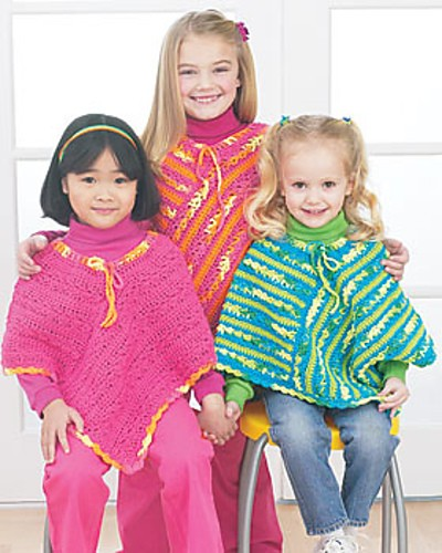 Easy and adorable cotton ponchos