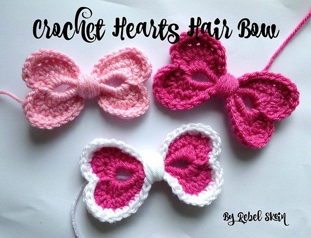 Hearts Hair Bow by Katrina Payne