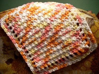 Little Starbursts Dishcloth by Sarah Cook