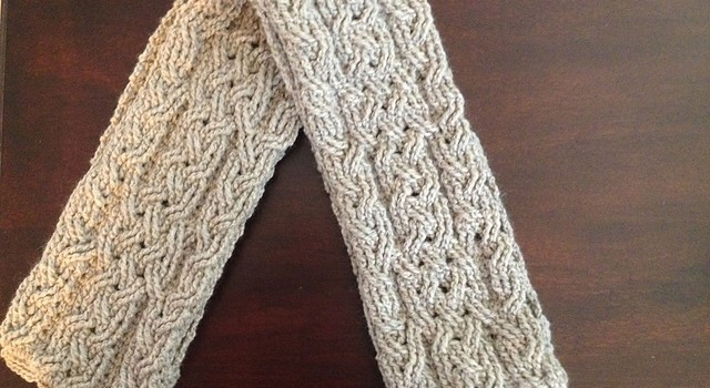 Free Pattern Until 222016 Lovely Crochet Cable Scarf Pattern
