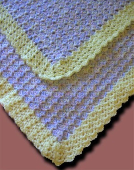 Sideways Shell Baby Afghan by Donna Laing