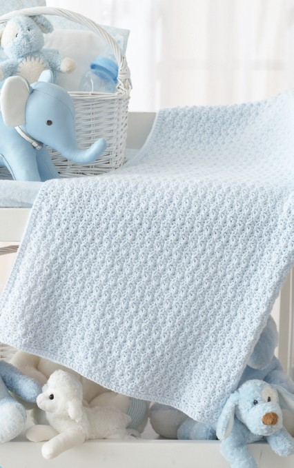 Amazingly Beautiful And Easy To Make Textured Crochet Baby Blanket