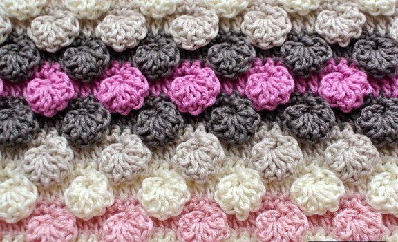 Free Pattern Learn A New Crochet Stitch Crochet Textured Bobble