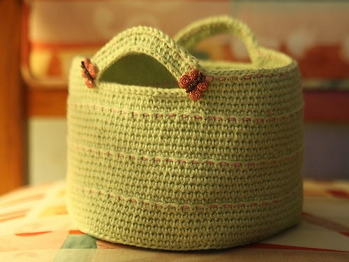 [Free Pattern] Simple And Beautiful Little Organizer Or Gift Basket