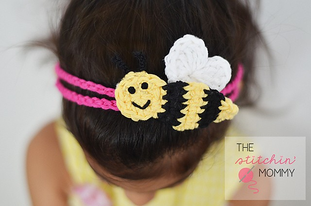 "[Free Pattern] Quick, Easy And Adorable ""Bee Mine"" Headband"